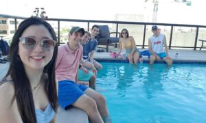 Summer 2020 EnPower Interns at the Pool