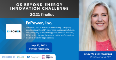 EnPower is named a finalist for GS Beyond Energy Innovation Challenge